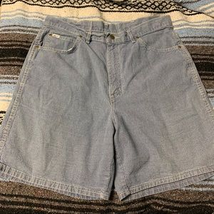 80s High Waisted Striped Mom Shorts
